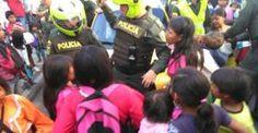 Disturbios en el centro entre indígenas y policía