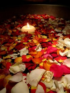 Floating petals in a Las Vegas Restaurant   - Explore the World with Travel Nerd Nici, one Country at a Time. http://TravelNerdNici.com