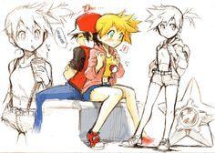 ash and misty Pokemon Manga, Pokemon Show, Pokemon Gijinka, Pokemon Red, Sexy Pokemon, Pokemon Couples, Pokemon People, Ash Und Misty, Pokemon Especial