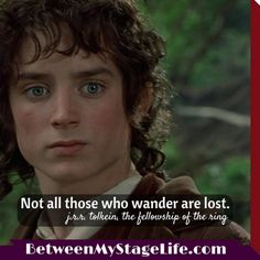 Your journey is yours. Getting off track is part of the process. #lordoftherings #journey http://BetweenMyStageLife.com