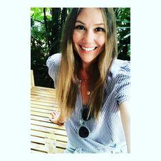 599478de49a Women s Striped Short Sleeve Button-Down Shirt - A New Day™ Brown M ...