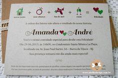 Convite para casamento informal e descolado - contando a história do casal