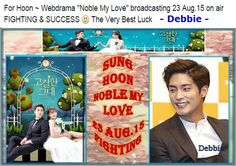 "Sung Hoon Bang (성훈, 成勋)  Hello fans, 23/8 Sunday night 24:00 KST  Don't miss New drama "" Noble, My Love"" ‪#‎고결한그대‬ will start on air pls. kindly Cheer & Support ‪#‎SungHoon  Thank you :-) NAVER: http://tvcast.naver.com/noblemylove"