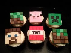Minecraft Birthday Party Ideas: Cupcake Toppers from Peace Love & Cake | Cool Mom Picks