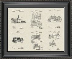 Tractors Patent Collection Farmer Rancher Gift by ConceptProducts, $35.00