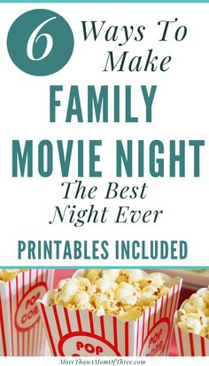 How To Make Family Movie Night More Fun - More Than A Mom Of Three - - Jazz up family night and create ultimate memories with your family. Check out how to make family movie night. Movie Night For Kids, Movie Night Snacks, Movie Night Party, Make A Family, Family Movie Night, Movie Nights, Kid Movies, Family Movies, Family Games