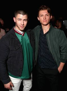 """jobrosnews: """" March 27: Nick Jonas and Tom Holland attend CinemaCon 2017 Gala Opening Night Event: Sony Pictures Highlights its 2017 Summer and Beyond Films at The Colosseum at Caesars Palace during..."""