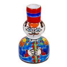 Ceramiche De Simone - Candelabras & Candle Holders - Sicilian Ceramic (Pottery) - OMP246-9 - Omino