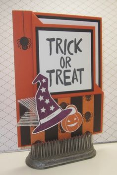 Stampin' Up!, Howl o ween Treat, Boo to You Framelits, Saturday Swap Day on my blog. Created by Kathy Morgan