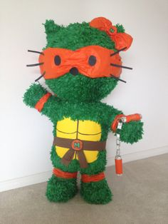 Hey, I found this really awesome Etsy listing at https://www.etsy.com/listing/170359547/hello-kitty-ninja-turtle-custom-pinata