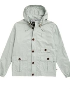 Farah Vintage Buxton Football Casuals Hooded Jacket-Eggshell