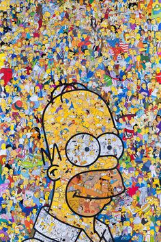 Mr Garcin's Itricate Illustrations Feature Cartoon and Comic Characters #simpsons trendhunter.com