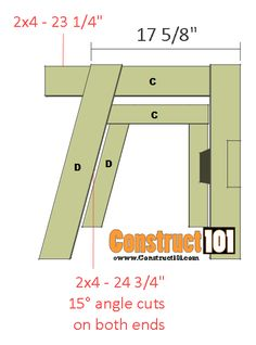 double chair bench plans step 2