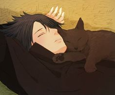 Sasuke and black cat, my 2 favorite things! I think I'll just go on Sasukes other shoulder ^^