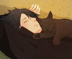 Sasuke and black cat, my 2 favorite things! I think I'll just go on Sasukes…