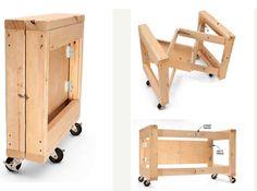 Ah! E se falando em madeira...: Base de mesa movel