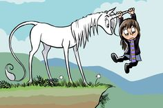 Heavenly Nostrils: If Hobbes was a snarky unicorn and Calvin was an awesome little girl - Boing Boing