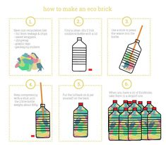 How to make EcoBricks — Skinny laMinx Reduce Reuse Recycle, How To Recycle, Brick Projects, Packaging Stickers, Plastic Waste, Green Life, Zero Waste, Reduce Waste, Sustainable Living