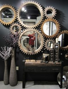 industrial decoration mirror - Buscar con Google