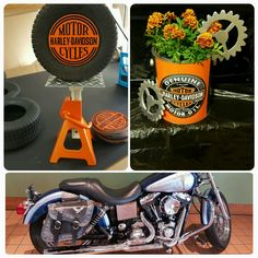 Harley Davidson Party by www. 55th Birthday, 70th Birthday Parties, Boy First Birthday, Themed Parties, Motorcycle Birthday, Motorcycle Party, 50th Birthday Party Ideas For Men, Biker Party, Charity Event