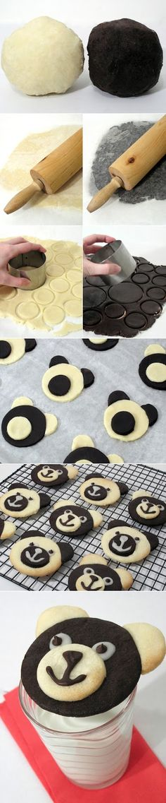 Teddy Bear Cookies - pinning this only so that when I attempt them, I'll have the before photo to compare with my pathetic result.  :)