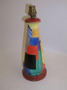 A rare Susie Cooper cubest design lamp,