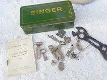 alte Blechdose für Singer Nähmaschine & Zubehör