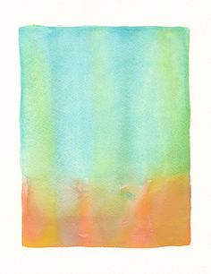 large original watercolor painting coral to by malissasplace, $250.00