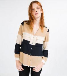 Shopping selection : Zara Wide Striped Blouse