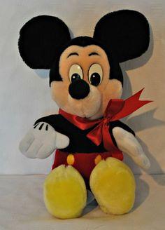 "Disneyland Mickey Mouse Plush Toy Walt Disney World 17"" Stuffed Animal EUC #disneyland #mickeymouse #disney #plushtoy"
