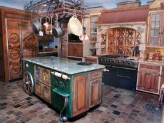 Doesn't this look like fun....won't match my disney theme but it helps with ideas......thinking...thinking.....Scott Cohen Designs Mediterranean Style Kitchen