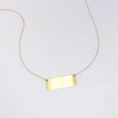 14K Gold Nameplate Necklace, Mariska Hargitay Style