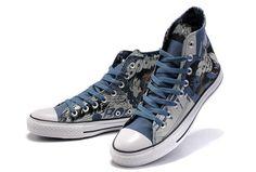 19ec9b6b735252 Classic Converse DC Heroes Batman Chuck Taylor All Star High Top Blue Print Canvas  Shoes