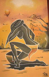 Cuadros de arena de Senegal Costume Africain, Afrique Art, African Art Paintings, Cuban Art, Black Love Art, Black Artwork, Afro Art, Art Moderne, African American Art