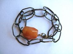 Tarnished Silver Chain Bracelet with Bright by HomeGrownIllinois, $10.00