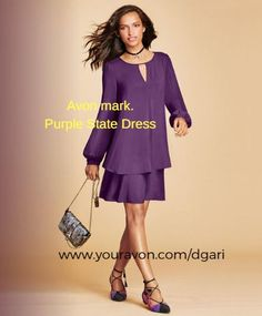 https://www.avon.com/product/mark-purple-state-dress-57623?rep=dgari A keyhole dress with a free-spirited flow to it! #avon #dress #clothing #fashion #purple