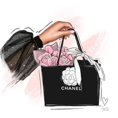 Im drawing illustrations to Art Mural Fashion, Fashion Artwork, Fashion Wallpaper, Artist Fashion, Art Chanel, Mode Chanel, Chanel Logo, Chanel Wallpapers, Cute Wallpapers