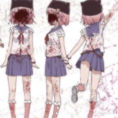 Arte Do Kawaii, Kawaii Goth, Kawaii Anime, Aesthetic Grunge, Aesthetic Anime, Gothic Anime, Cybergoth, Oui Oui, Dark Anime