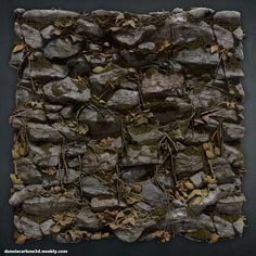 ArtStation - Overgrown Stone Wall- Zbrush + Substance Designer, Dannie Carlone