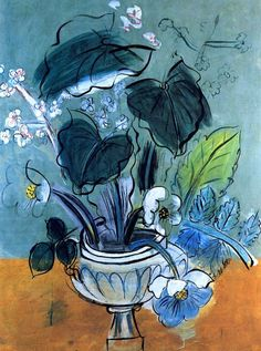 Bouquet of Flowers   -    Raoul Dufy , 1951     French, 1877-1953    Fresco, 161 cm (63.39 in.) x  121 cm (47.64 in.)