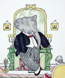 Babar - Illustration: Jean de Brunhoff <> (children's illustrations, kids, classic stories)