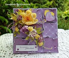 Handmade by Karasiowa: Sunshine and Lavender - GDT City Crafter Challenge...