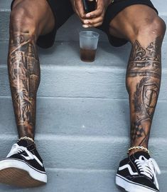 Upper Leg Tattoos, Full Leg Tattoos, Cool Chest Tattoos, Chest Piece Tattoos, Cool Tattoos For Guys, Best Tattoos For Men, Half Sleeve Tattoos Drawings, Skull Sleeve Tattoos, Leg Sleeve Tattoo