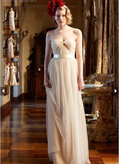 2015 Zipper Up Sweetheart Sleeveless Chiffon Sash Floor Length Bridesmaid / Prom Dresses By WTOO 650i.