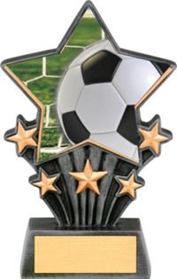 Soccer Trophies, Star Trophy, Trophy Plaques, Football Tournament, Trophy Design, Super Star, Letters And Numbers, Soccer Ball, Resin
