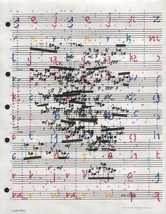 Amen Break, Graphic Score, Music Manuscript, Sheet Music Art, Experimental Music, Music Writing, Music Score, Music Aesthetic, Progressive Rock