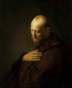 Old Man in Prayer-Rembrandt