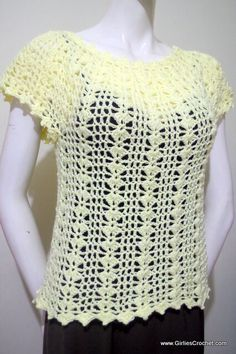 This is a free crochet pattern for Eunice Summer Top with photo tutorial in each step. This pattern is easy enough that even beginners can crochet having the basic knowledge of double crochet and picot stitch.