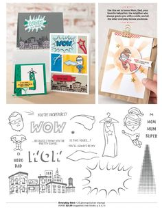 CARD The Stampin Up Everyday Hero stamp set is a BYOSH (Build Your Own Super Hero) set. On today's video, I'll show you how to build this super stinkin' cute girl hero. And you can swap it out and make this a boy as well. I'm going to do some watercoloring with the