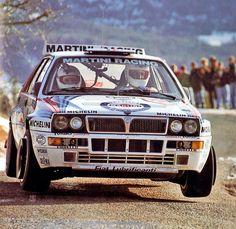 Lancia Delta Integrale rally car - Group A Más Subaru Rally, Rally Car, Monte Carlo, Sport Cars, Race Cars, Lancia Delta Integrale, Nascar, Martini Racing, Alfa Romeo Cars